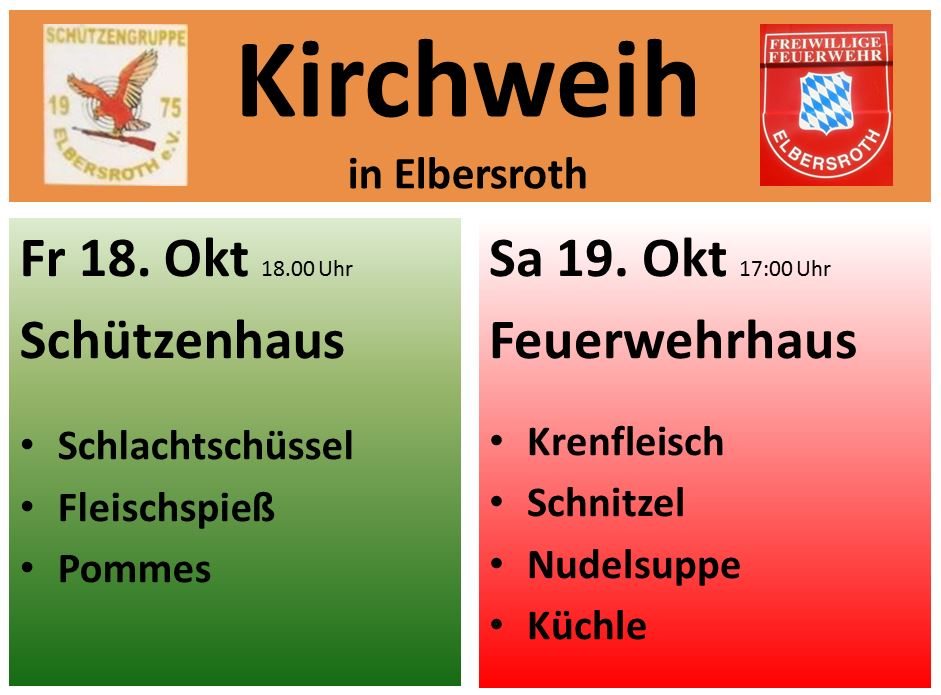 Kirchweih Elbersroth @ Schützenhaus Elbersroth